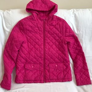 CHILDREN'S PLACE Pink puffer jacket. Size 10/12